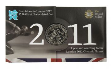 2011 COUNT DOWN TO THE OLYMPICS £5 COIN Long Sleeve